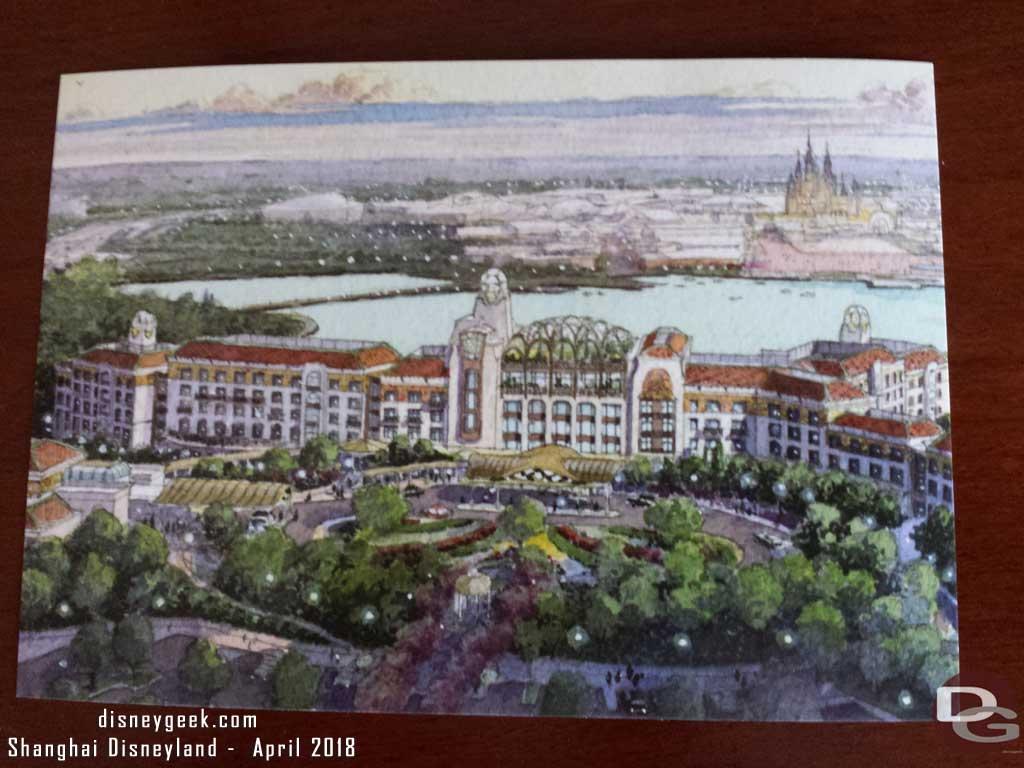 Shanghai Disneyland Hotel Postcard