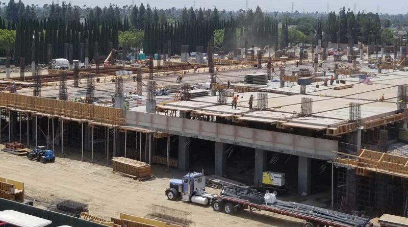 Disneyland Parking Structure Construction 8/24