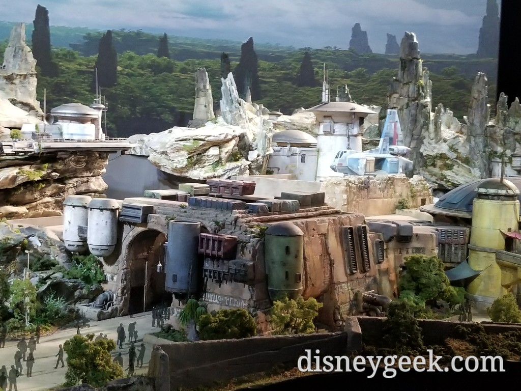 D23 Expo: Star Wars: Galaxy's Edge Model