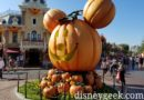 Mickey Pumpkin in Disneyland Town Square for Halloween