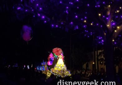 Paint the Night started in Hollywood Land Tonight, Reversed from last several visits