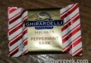 Ghirardelli samples are peppermint bark already