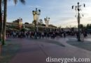 Arriving at Disneyland for the day, park opens in 15 min