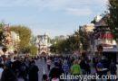 Disneyland Main Street USA this morning