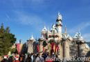 Joining the march to Fantasyland through Sleeping Beauty Castle