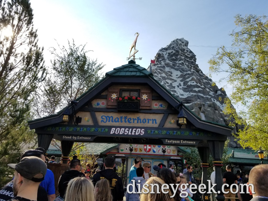Matterhorn Reopened 11 16 With A New Queue Configuration And Sign At