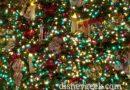 Disneyland Main Street USA Christmas Tree Closeup