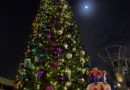 Downtown Disney Christmas Tree, Nutcracker & the moon