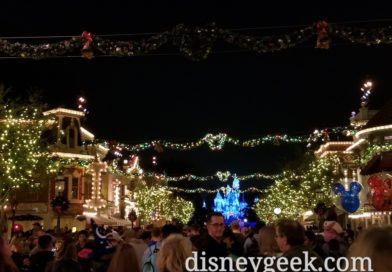 One of the garlands over Main Street is not lit up tonight