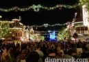 On Main Street USA waiting for Believe in Holiday Magic Fireworks