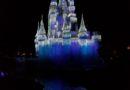 Cinderella Castle this evening in the Magic Kingdom