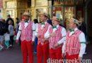 Dapper Dans performing along Main Street USA at the Magic Kingdom