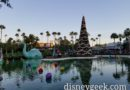 Echo Lake at Disney's Hollywood Studios as the sun is setting