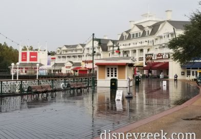 WDW Day 6: Pictures from a rainy morning at Disney's Boardwalk Resort