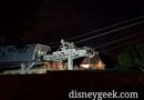 Disney Skyliner work getting underway for the evening
