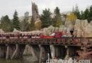 The CK Holliday steaming along the Rivers of America