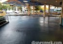 Renovation work on the main seating area for Tomorrowland Terrace