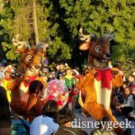 The reindeer were the finale to A Christmas Fantasy parade