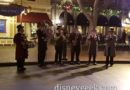 Dickens Yuletide band performing in Town Square at Disneyland