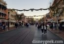 Disneyland Main Street USA as the sun is setting this evening