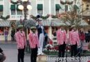 Dapper Dans of Disneyland at the nightly Flag Retreat in Town Square