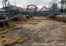Pacific Wharf water is drained during this year's Grizzly River Run renovation