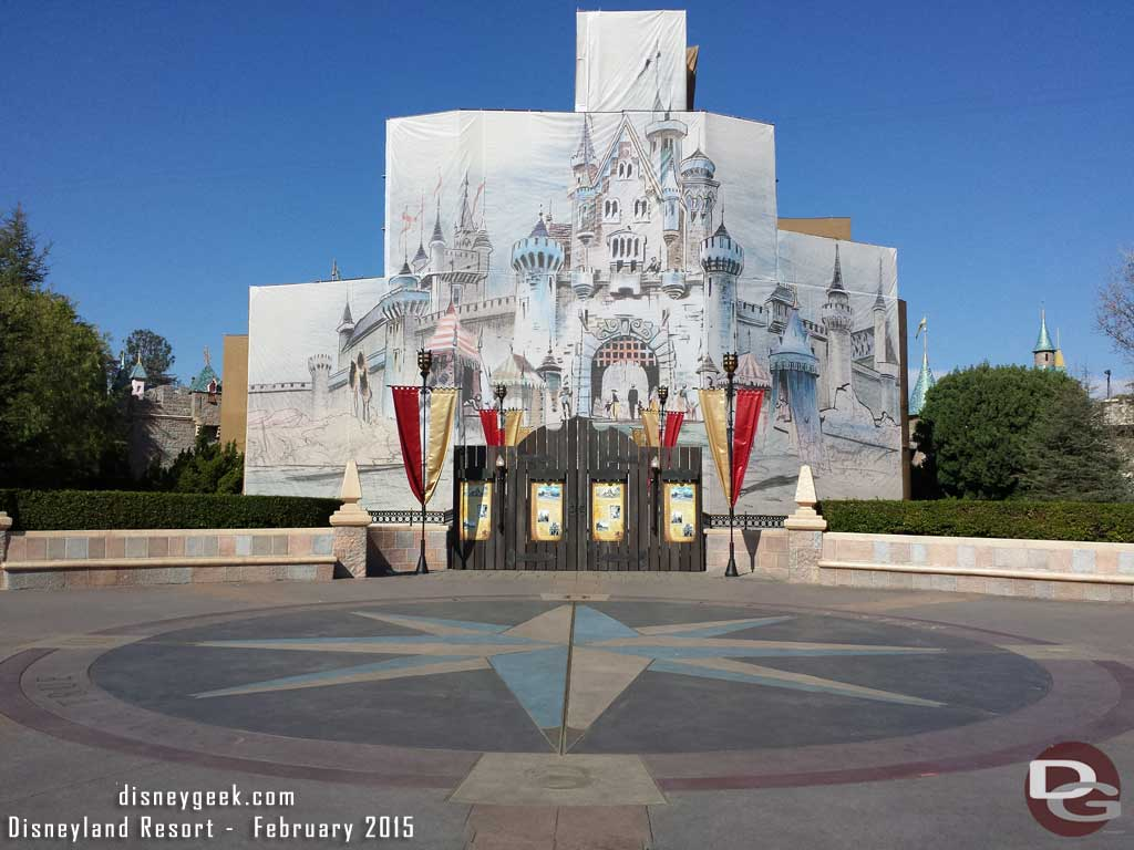 Disneyland Castle Renovation - 2015
