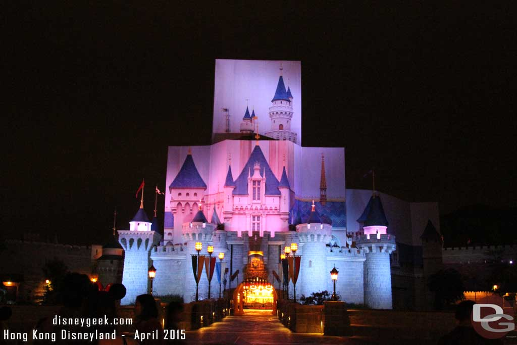 Hong Kong Disneyland - Sleeping Beauty Castle Renovation 2015