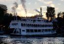 Disneyland Mark Twain Riverboat cruising the Rivers Of America