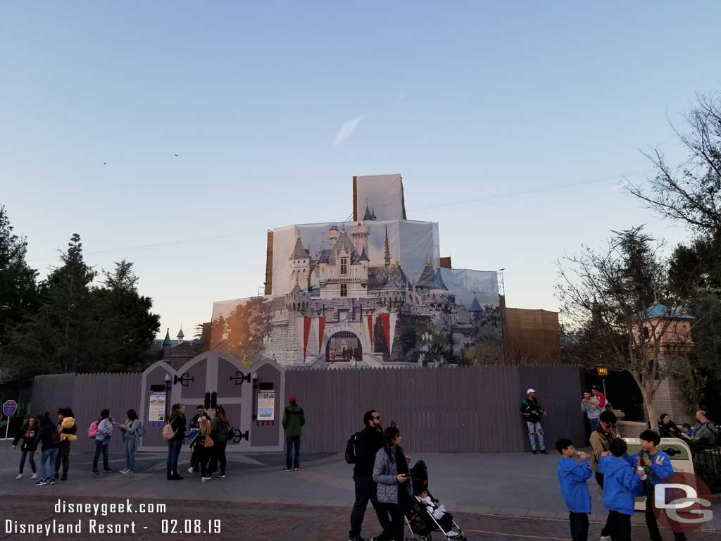 Disneyland Castle Renovation - 2019