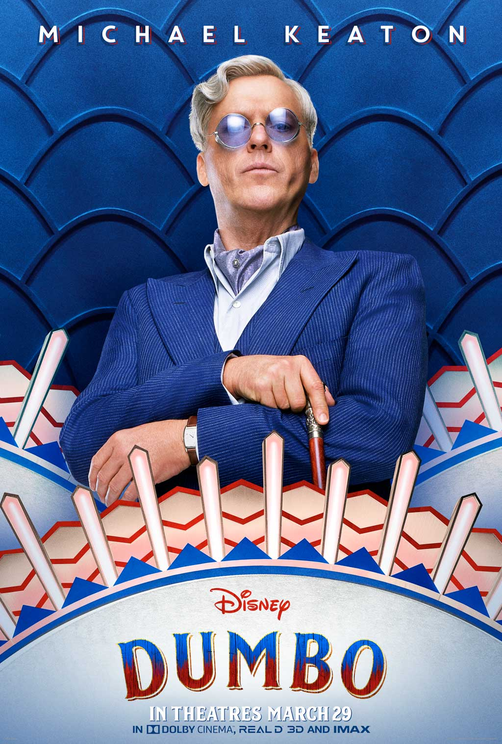 V.A. Vandevere (Michael Keaton), an entrepreneur and proprietor behind a state-of-the-art amusement utopia called Dreamland