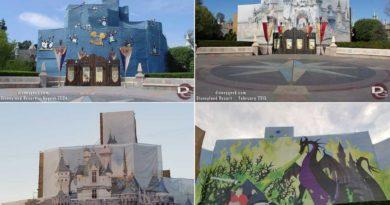 Sleeping Beauty Castle – Renovation/Scaffolding Scrim Pictures (2004, 2015 & 2019)