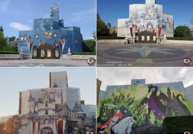 Sleeping Beauty Castle – Renovation/Scaffolding Scrim Pictures (2004, 2015 & 2019)