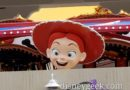 Jessie has arrived at her carousel on Pixar Pier (several pictures)