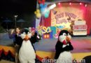 A couple of Penguins at the Get Your Ears on Dance Party at the Tomorrowland Terrace