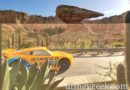 Cruz cruising Cross Street in Ornament Valley – Cars Land