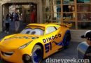 Cruz Ramirez parked at Ramones in Cars Land