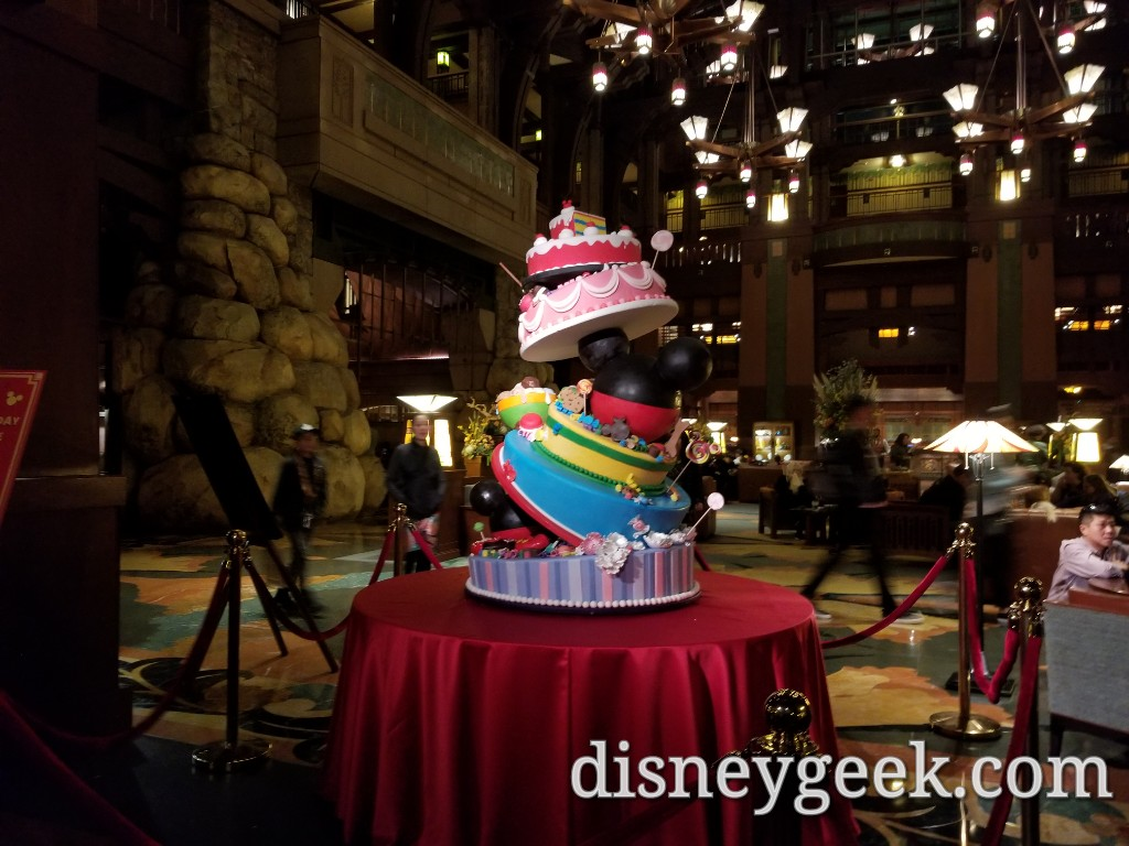 Mickeys 90th Birthday Celebration Cake At The Grand Californian Hotel Several Pictures