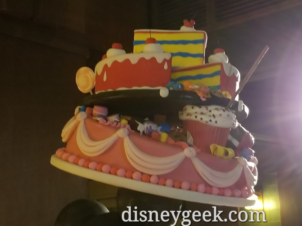 To Celebrate Mickey Mouses 90th Birthday Disneys Grand Californian Hotel Lobby Has A Cake On Display As Party Of The Get Your Ears Celebration