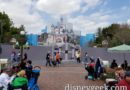 Disneyland Sleeping Beauty Castle renovation continues, walls extend out into the street now
