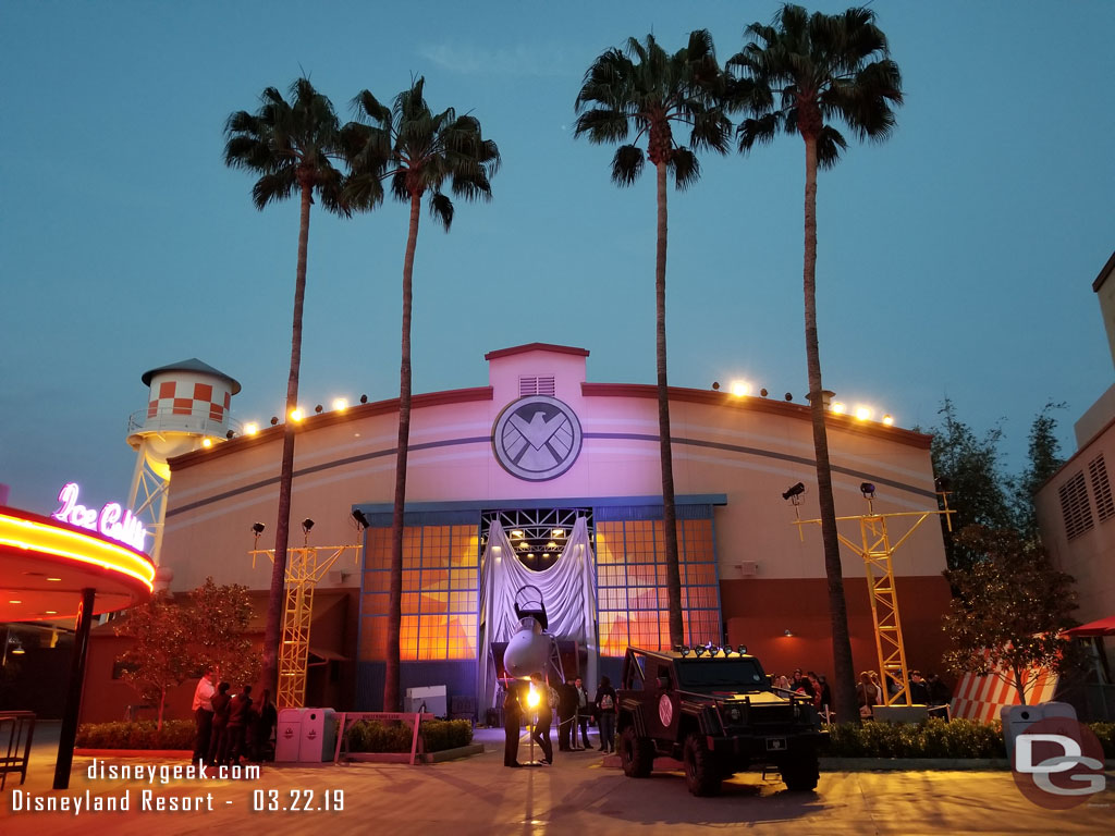 Captian Marvel Meet and Greeet in Hollywood Land at Disney California Adventure
