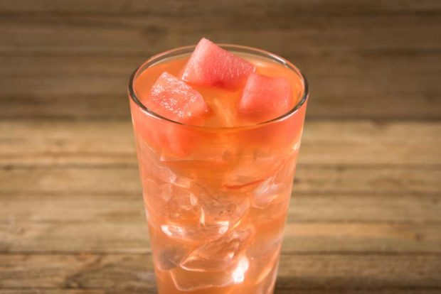 Cluck-A-Doodle-Moo – Watermelon Lemonade with Watermelon garnish