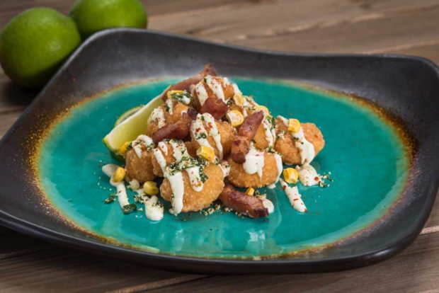 Off the Cob - Esquites Sweet Corn Nuggets with Bacon Lardons