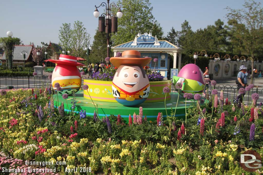 Woody in the center of the Gardens of Imagination
