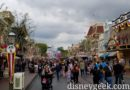 Just arrived at Disneyland for the afternoon.  Main Street USA under cloudy skies today