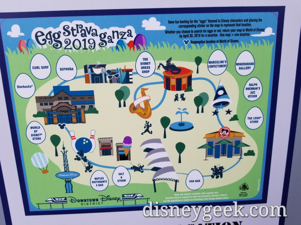 Eggstravaganza Scavenger Hunt 2019 – Downtown Disney District – on
