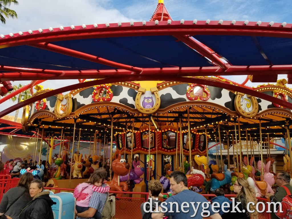 Jessie S Critter Carousel On Pixar Pier Several Pictures