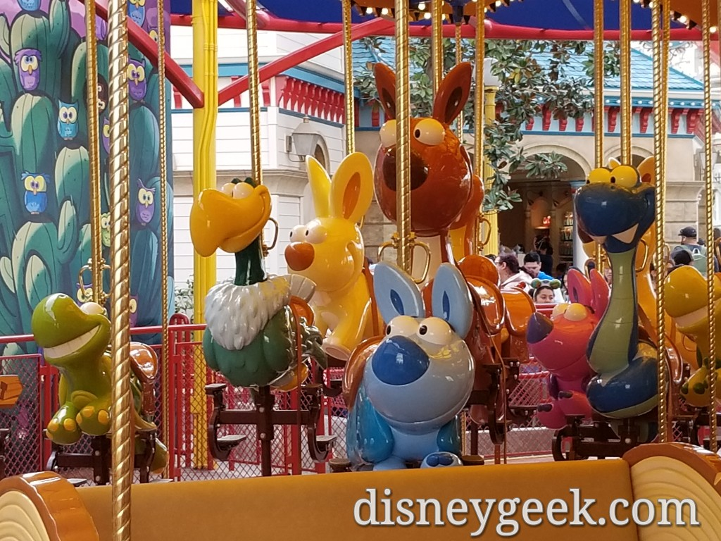 Jessie's Critter Carousel on Pixar Pier (Several Pictures