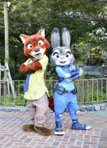 "N ick Wilde and Judy Hopps in ""Judy and Nick's Jumpin'Splash"""