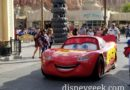 Lightning McQueen rolling through Cars Land